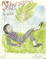 Michael in the grass_original_ by karutimburtonfan