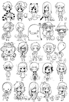 chibis, chibis everywhere by Parororo