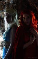 [GoT] Daenerys and Melisandre by YunaB-Rabbit