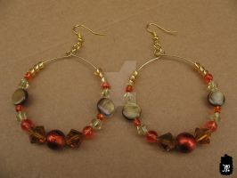Autumn Leaves Beaded Earrings by TheFuzzyPineapple