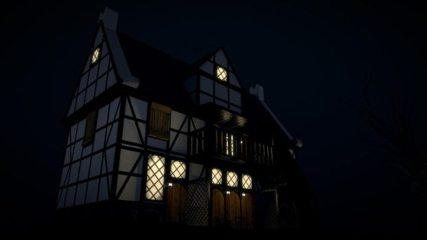 Low poly medieval house (video in description!) by Mig26