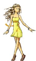The Yellow Candle Flame Dress by GaaBByy