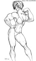 Muscle Power Girl by felsus by elee0228
