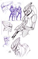 Turian Sketch Sheet 2 by erli
