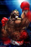 Street Fighter-Balrog-Upper cut by Grapiqkad