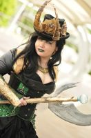 Steampunk Lady Loki cosplay by Friezaess