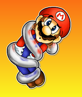 Spring Mario by MushroomWorldDrawer