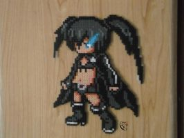 Black Rock Shooter Modified Perler Beads by Cimenord