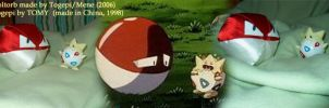 Voltorb and Togepi by mene