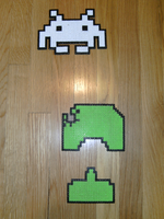 Perler Bead Space Invaders by Queoh