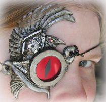 Steampunk Clockwork Raven Eye by Namingway