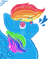 Dashy :Crayon Coloring: by PONYPUKE