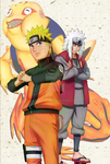 Naruto and Jiraiya by Narusailor
