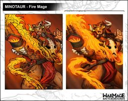 BurstOnline - War Mage - Minotaur Fire Mage by madmagnus