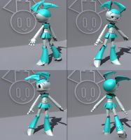Jenny 3d wip 3 by 14-bis
