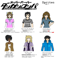 Super Duper Dangan Ronpa: Sprites Part 2 by tupacalypseArisen