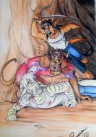 Old Commission: Werecat Attack! by Plotismybiasgame