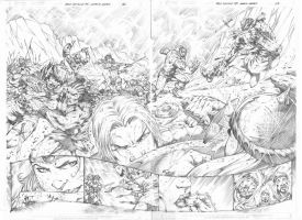 Red Sonja #75 pg 02,03 by MARCIOABREU7