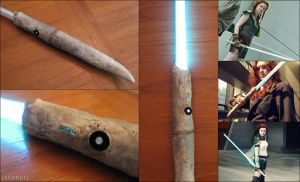 Lightsaber - Tenel Ka Djo - Star Wars by zhobot