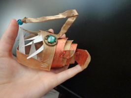 Handmade paper abyssal steampunk angler fish by Rouages-et-Creations