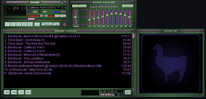DEFAult winamp Skin green By EmiLEDESMArg  by EmiLEDESMArg