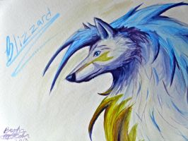 Blizzard Watercolor Painting by SilverAruka