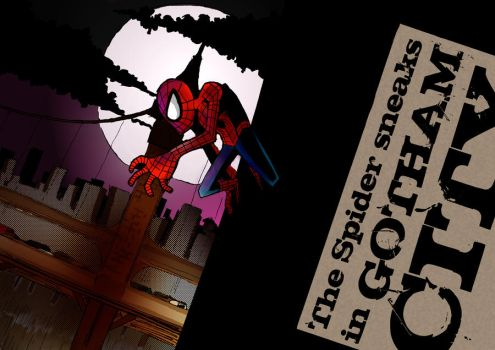 A Spider Man in Gotham by Egory