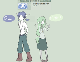 Q: 27 gender bender!!! by Ask-Olive-And-Oliver