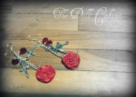 Gothic rose-earings by Ruzuworld