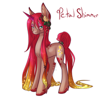 MLP OC Petal Shimmer by BlueKazenate
