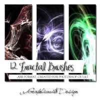 12 Fractal Brushes Set by graphicavita