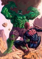 Hulk vs Spider colors by Niggaz4life