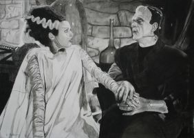 The Bride Of Frankenstein by astrogoth13