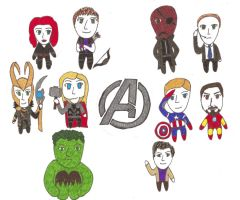 Chibi Avengers by LikeRenfieldSyndrome