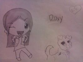 Roxy- Human (Chibi) and Dog version by RIO4ever1
