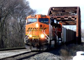 BNSF 5750 at BI junction by JamesT4