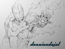 Iron man Sketch by dessinsdejul