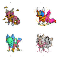 [Free Adopts] Magic Valentine's Foxes [Closed] by Feralx1