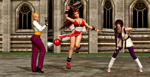 King of Fighters Women Fighter Team by Kripas4