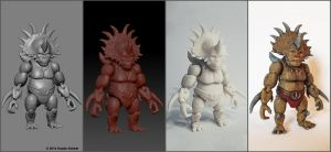 3D printed action figure Steracorilla Workflow by hauke3000