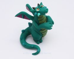 Solly, the Little Teal-Green Dragon by LitefootsLilBestiary