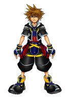 Kingdom Hearts 2 Neutral Form by Marduk-Kurios
