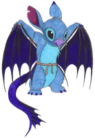 Stitch be like Toothless by Dragons-den