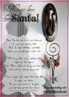 A Key for Santa by ArtByStarlaMoore