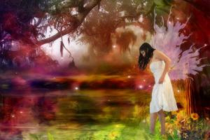 A Faerie's Reflection by VisualPoetress