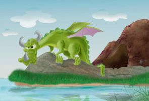 green dragon 1 by Marcelo-Ilustra