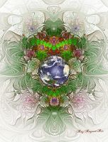 Fractal Earth Day by Rozrr