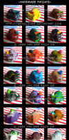 Fimo Fat Cats by Genolover