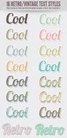 16 Free Retro Vintage Text Effect Styles by starsunflowerstudio
