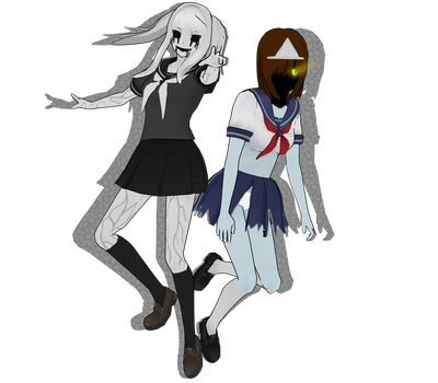 [MMD] Fun Girl and Ghost Chan by YelenBrownRaccoon